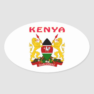 Kenya Coat Of Arms Oval Sticker