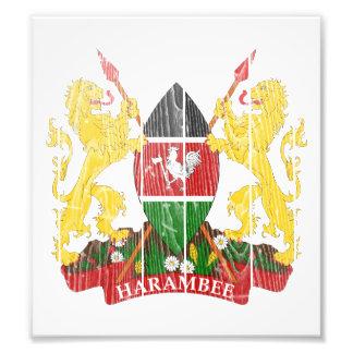 Kenya Coat Of Arms Art Photo