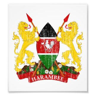 Kenya Coat Of Arms Photo Art