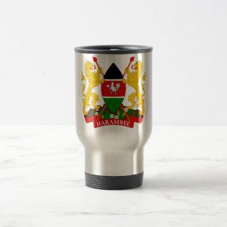 Kenya Coat of Arms Travel Mug