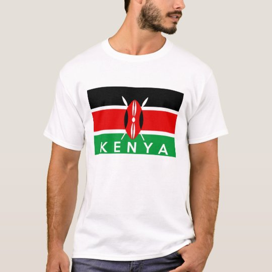 kenya country flag symbol name text T-Shirt