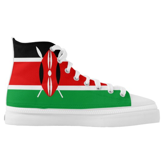 Kenya country flag symbol nation printed shoes