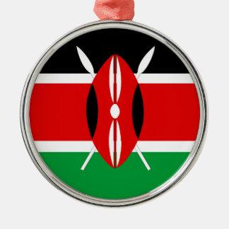 Kenya country long flag nation symbol republic christmas ornament
