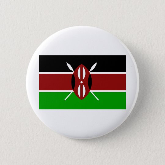 Kenya Flag 6 Cm Round Badge