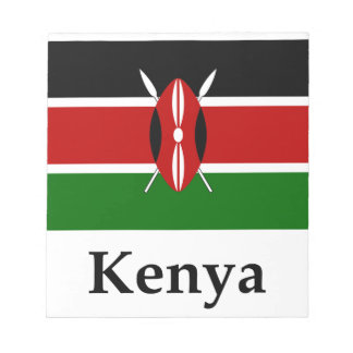Kenya Flag And Name Notepad