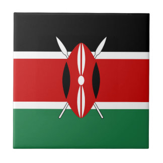 Kenya Flag Ceramic Tile