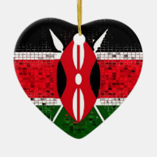 Kenya Flag glitter ornament