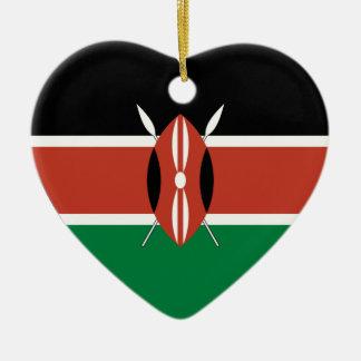 Kenya Flag Heart Ceramic Heart Decoration