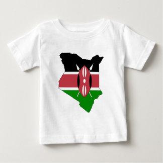 Kenya flag map baby T-Shirt