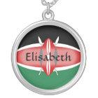 Kenya Flag + Name Necklace