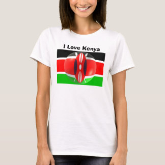Kenya Flag Shirt I Love Kenya