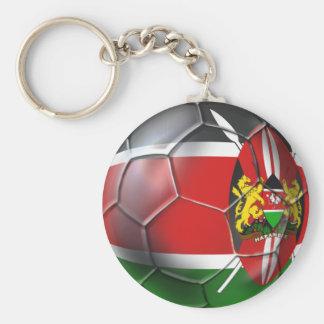 Kenya flag soccer ball soccer players gifts basic round button key ring