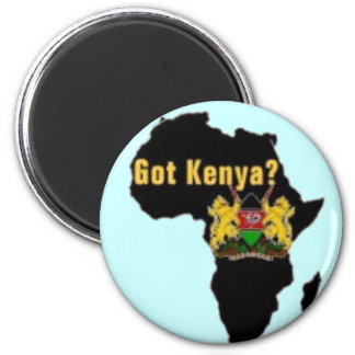 Kenya Flag T-Shirt  And Etc 6 Cm Round Magnet
