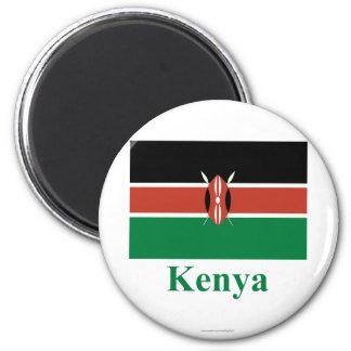 Kenya Flag with Name Magnet