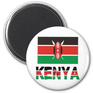Kenya Flag & Word Magnet