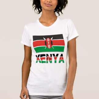 Kenya Flag & Word T-Shirt