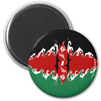 Kenya Gnarly Flag Fridge Magnet