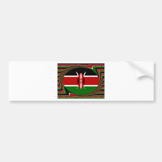 Kenya Hakuna Matata Black Red Green Bumper Sticker