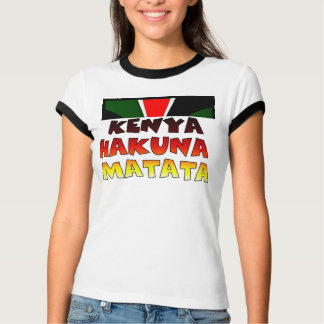 Kenya Hakuna Matata vintage-inspired Flag Colors T-Shirt