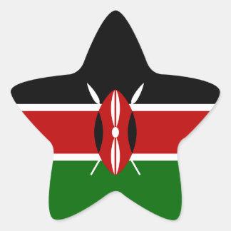 Kenya/Kenyan Flag Star Sticker