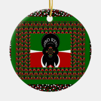 Kenya lovely heats christmas ornament
