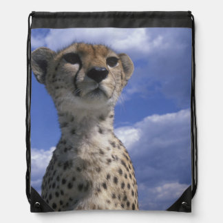 Kenya, Masai Mara Game Reserve, Close-up Drawstring Bag