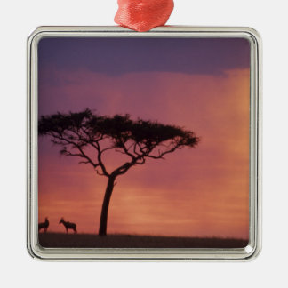 Kenya: Masai Mara National Park, Sunset. Christmas Ornament
