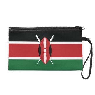 Kenya Plain Flag Wristlet