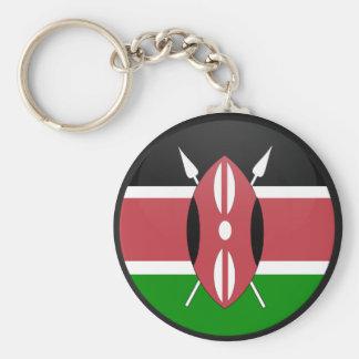 Kenya quality Flag Circle Basic Round Button Key Ring