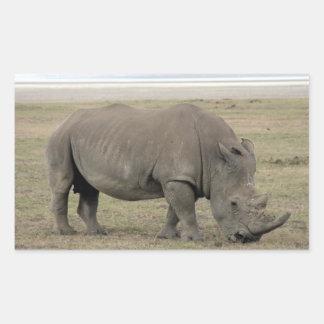 kenya rhino rectangular sticker