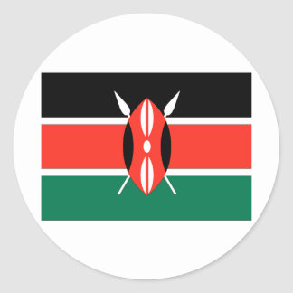 Kenya Round Sticker