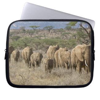 Kenya, Samburu National Reserve. Elephants Laptop Sleeve