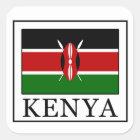 Kenya Square Sticker