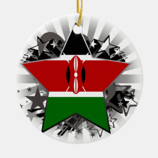 Kenya Star Round Ceramic Decoration