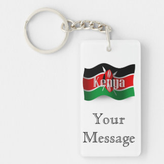 Kenya Waving Flag Key Ring