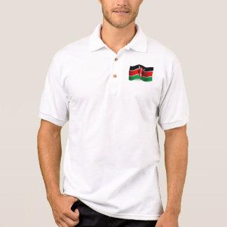 Kenya Waving Flag Polo Shirt