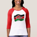 Kenya Waving Flag Tshirt