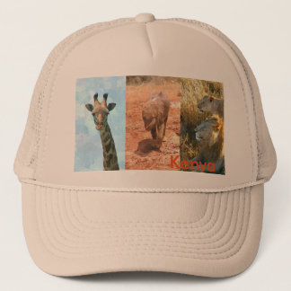 Kenya wildlife trucker cap