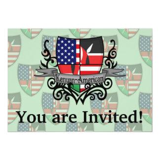 Kenyan-American Shield Flag 13 Cm X 18 Cm Invitation Card