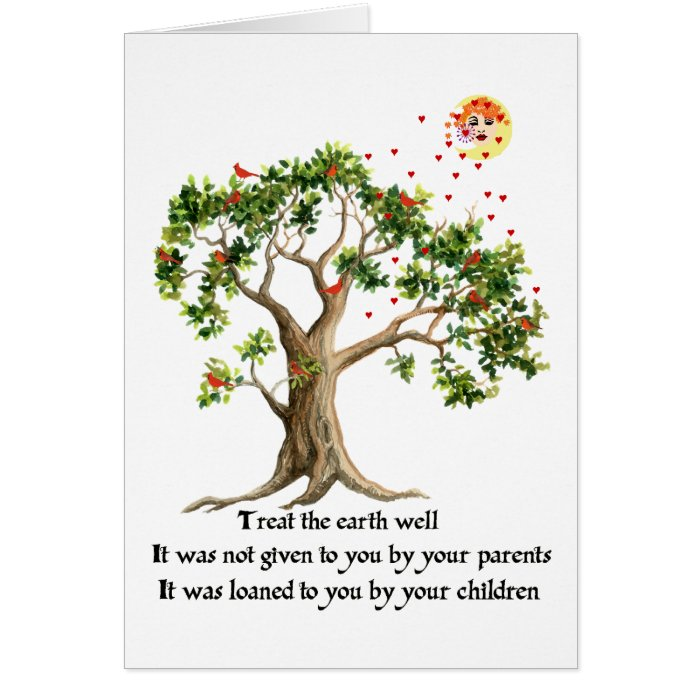 Kenyan Nature Proverb Greeting Card