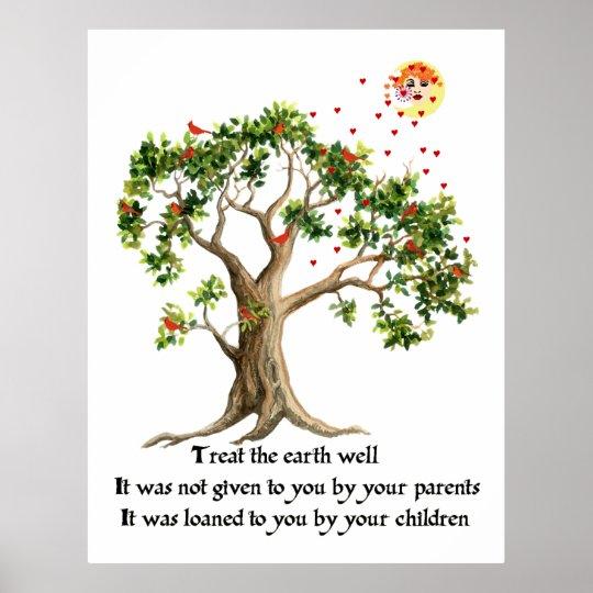 Kenyan Nature Proverb Poster