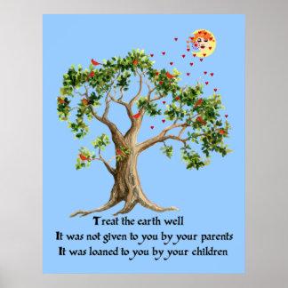 Kenyan Nature Proverb Print