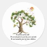Kenyan Nature Proverb Round Sticker