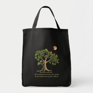 Kenyan Nature Proverb Grocery Tote Bag