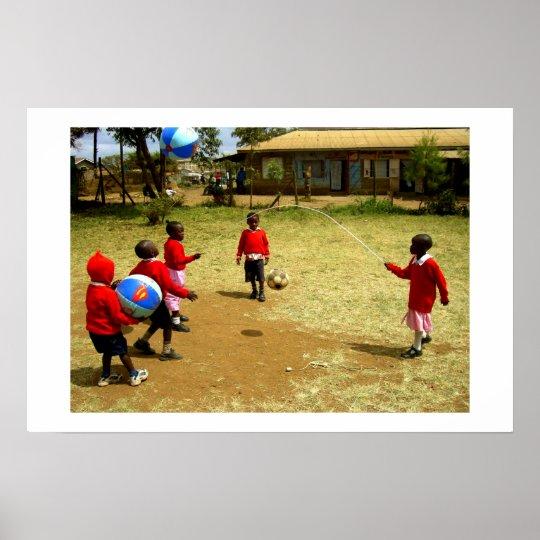 KENYAN SCHOOL CHILDREN IN KENYA POSTER