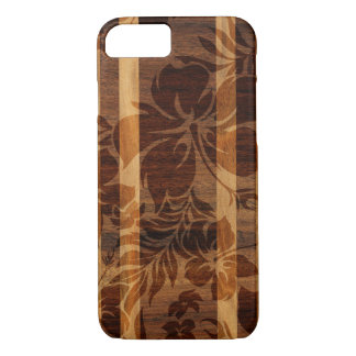 Keokea Beach Faux Wood Surfboard iPhone 7 Case