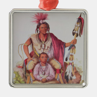 Keokuk or 'Watchful Fox', Chief of the Sauks Christmas Ornament
