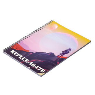 Kepler - 1647B travel poster Notebook