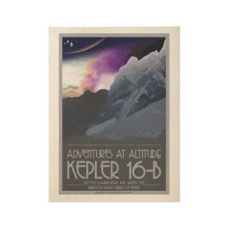 Kepler 16-b Art Deco Space Posters