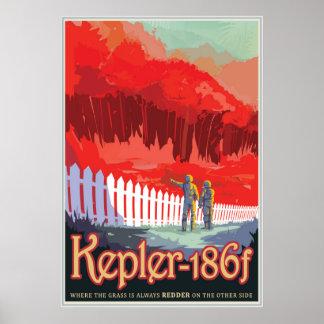 Kepler-186 f - Where the Grass is Always Redder Poster